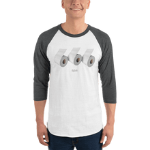 Load image into Gallery viewer, Unisex 3/4 Sleeve Raglan Shirt Unisex 3/4 Sleeve Raglan Shirt Aighard White/Heather Charcoal XS 5 2111029_8329 Unisex 3/4 Sleeve Raglan Shirt