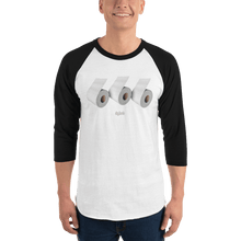 Load image into Gallery viewer, Unisex 3/4 Sleeve Raglan Shirt Unisex 3/4 Sleeve Raglan Shirt Aighard White/Black XS 4 2111029_8146 Unisex 3/4 Sleeve Raglan Shirt