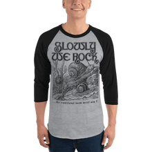 Load image into Gallery viewer, Unisex 3/4 Sleeve Raglan Shirt Aighard Heather Grey/Black XL 7 7064821_8156 Unisex 3/4 Sleeve Raglan Shirt