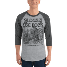 Load image into Gallery viewer, Unisex 3/4 Sleeve Raglan Shirt Aighard Heather Grey/Heather Charcoal XS 8 7064821_8311 Unisex 3/4 Sleeve Raglan Shirt
