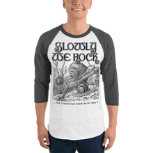 Load image into Gallery viewer, Unisex 3/4 Sleeve Raglan Shirt Aighard White/Heather Charcoal XS 4 7064821_8329 Unisex 3/4 Sleeve Raglan Shirt