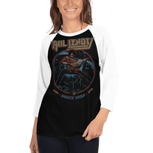 Load image into Gallery viewer, Unisex 3/4 Sleeve Raglan Shirt Unisex 3/4 Sleeve Raglan Shirt Aighard Black/White XS 2 4852037_8158 Unisex 3/4 Sleeve Raglan Shirt