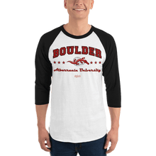 Load image into Gallery viewer, Unisex 3/4 Sleeve Raglan Shirt (Variants) Unisex 3/4 Sleeve Raglan Shirt Aighard White/Black XS 6 7028298_8146 Unisex 3/4 Sleeve Raglan Shirt (Variants)