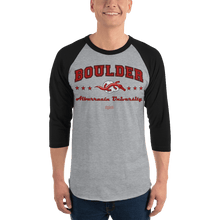 Load image into Gallery viewer, Unisex 3/4 Sleeve Raglan Shirt (Variants) Unisex 3/4 Sleeve Raglan Shirt Aighard Heather Grey/Black XS 4 7028298_8152 Unisex 3/4 Sleeve Raglan Shirt (Variants)