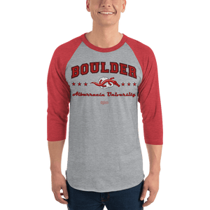 Unisex 3/4 Sleeve Raglan Shirt (Variants) Unisex 3/4 Sleeve Raglan Shirt Aighard Heather Grey/Heather Red XS 5 7028298_8317 Unisex 3/4 Sleeve Raglan Shirt (Variants)