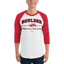 Load image into Gallery viewer, Unisex 3/4 Sleeve Raglan Shirt (Variants) Unisex 3/4 Sleeve Raglan Shirt Aighard White/Red XS 7 7028298_8341 Unisex 3/4 Sleeve Raglan Shirt (Variants)