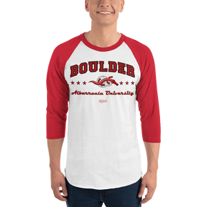 Unisex 3/4 Sleeve Raglan Shirt (Variants) Unisex 3/4 Sleeve Raglan Shirt Aighard White/Red XS 7 7028298_8341 Unisex 3/4 Sleeve Raglan Shirt (Variants)