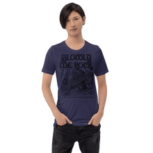 Load image into Gallery viewer, Unisex (Lightweight) T-shirt Aighard Heather Midnight Navy S 6 5908780_8495 Unisex (Lightweight) T-shirt