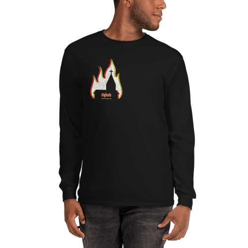 Church Arson | Unisex Long Sleeve Shirt Aighard Merchandise Webshop bergen black metal