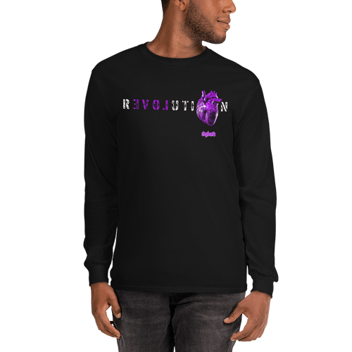Revolution (Purple) | Unisex Long Sleeve Shirt Aighard Merchandise Webshop Activist Anti Activism