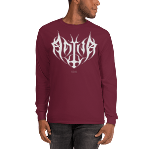 Unisex Long Sleeve Shirt Unisex Long Sleeve Shirt Aighard Maroon S 3 7541892_3520 Unisex Long Sleeve Shirt