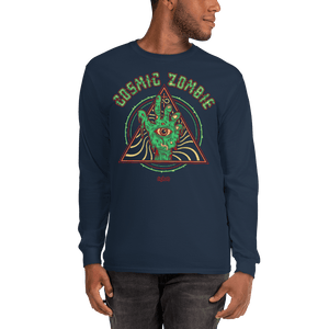 Unisex Long Sleeve Shirt Aighard Navy S 3 3245269_3544 Unisex Long Sleeve Shirt