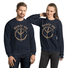 Load image into Gallery viewer, Peace Off | Unisex Sweatshirt Aighard Merchandise Webshop Anti Love Hippie Absence Of War Doesn't Mean Peace Navy