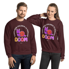 Load image into Gallery viewer, Teach Doom | Unisex Sweatshirt Aighard Merchandise Webshop Child children Birthday Maroon