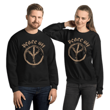 Load image into Gallery viewer, Peace Off | Unisex Sweatshirt Aighard Merchandise Webshop Anti Love Hippie Absence Of War Doesn't Mean Peace Black