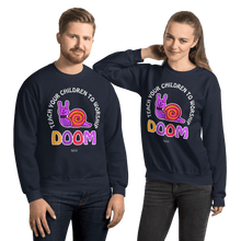 Load image into Gallery viewer, Teach Doom | Unisex Sweatshirt Aighard Merchandise Webshop Child children Birthday Navy