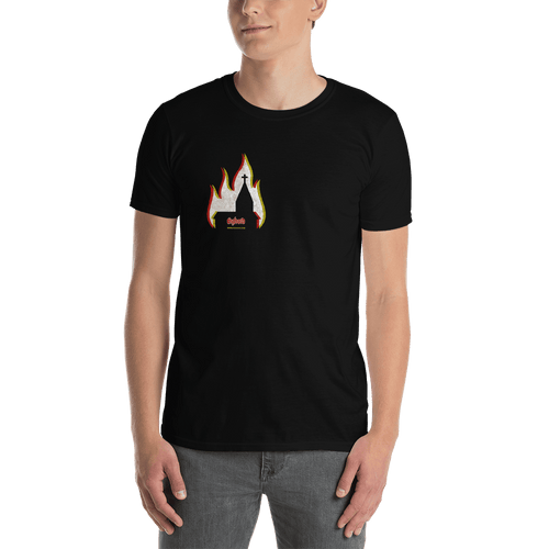 Church Arson | Unisex T-shirt Aighard Merchandise Webshop bergen black metal