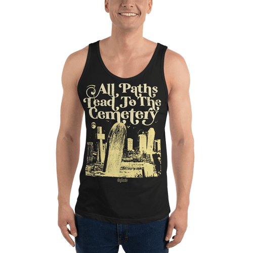 All Paths Lead To The Cemetery | Unisex Tank Top Aighard Merchandise Webshop architecture burial All paths lead to the cemetery