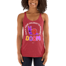 Load image into Gallery viewer, Teach Doom | Woman Tank Top Aighard Merchandise Webshop Child children Birthday Vintage Red