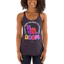 Load image into Gallery viewer, Teach Doom | Woman Tank Top Aighard Merchandise Webshop Child children Birthday Vintage Purple