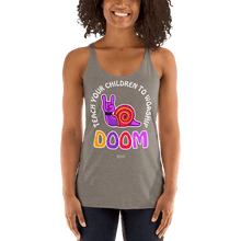 Load image into Gallery viewer, Teach Doom | Woman Tank Top Aighard Merchandise Webshop Child children Birthday Venetian Grey