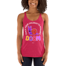 Load image into Gallery viewer, Teach Doom | Woman Tank Top Aighard Merchandise Webshop Child children Birthday Vintage Shocking Pink