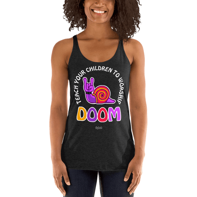 Teach Doom | Woman Tank Top Aighard Merchandise Webshop Child children Birthday Vintage Black