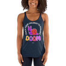 Load image into Gallery viewer, Teach Doom | Woman Tank Top Aighard Merchandise Webshop Child children Birthday Vintage Navy