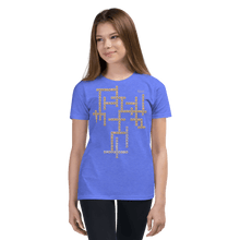 Load image into Gallery viewer, Youth T-shirt Aighard Heather Columbia Blue S 10 9825589_10620 Youth T-shirt