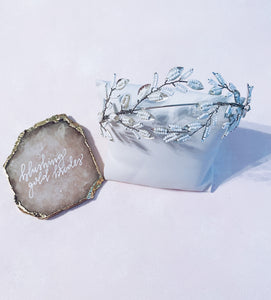 Silver Spray Headband