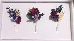 Floral Trio Hair Pins