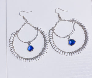 Something Blue Hoop Earring
