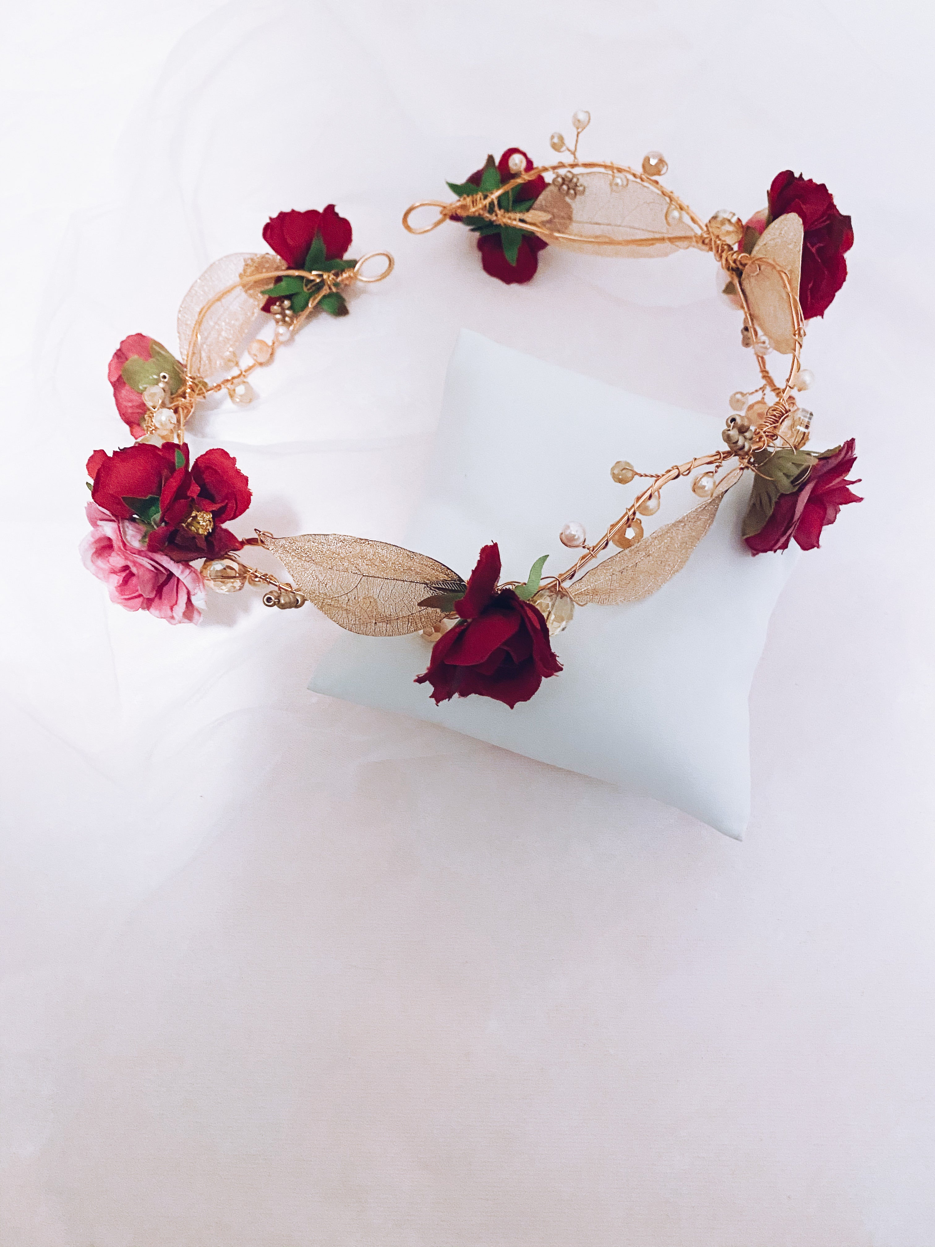 Rose Gold Flower Halo