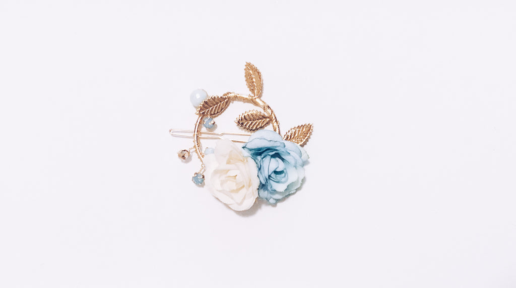 Something Blue Floral Clip