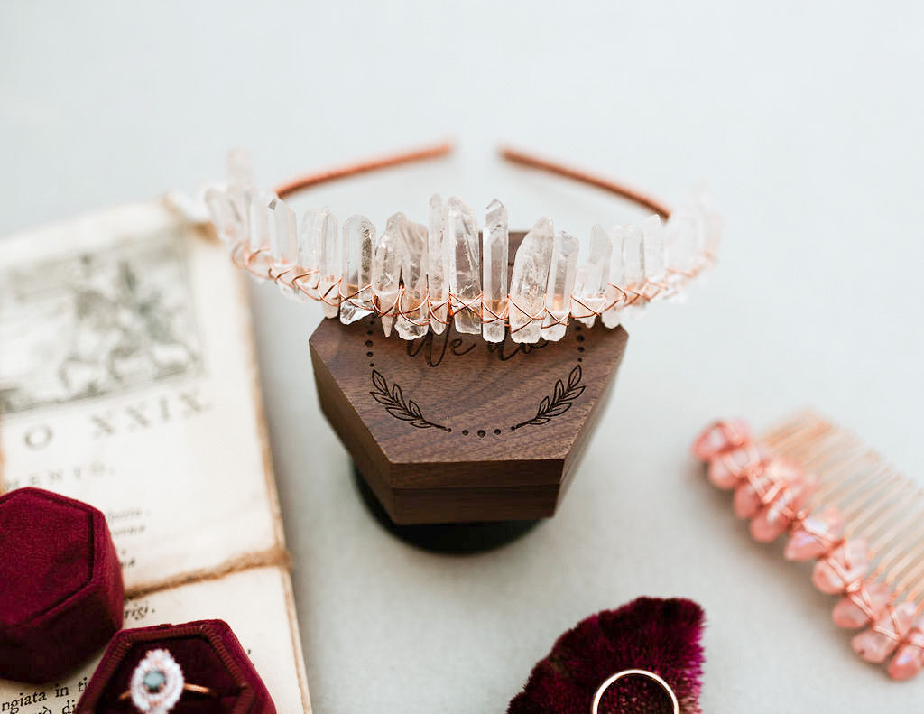 Rose Gold Quartz Crown