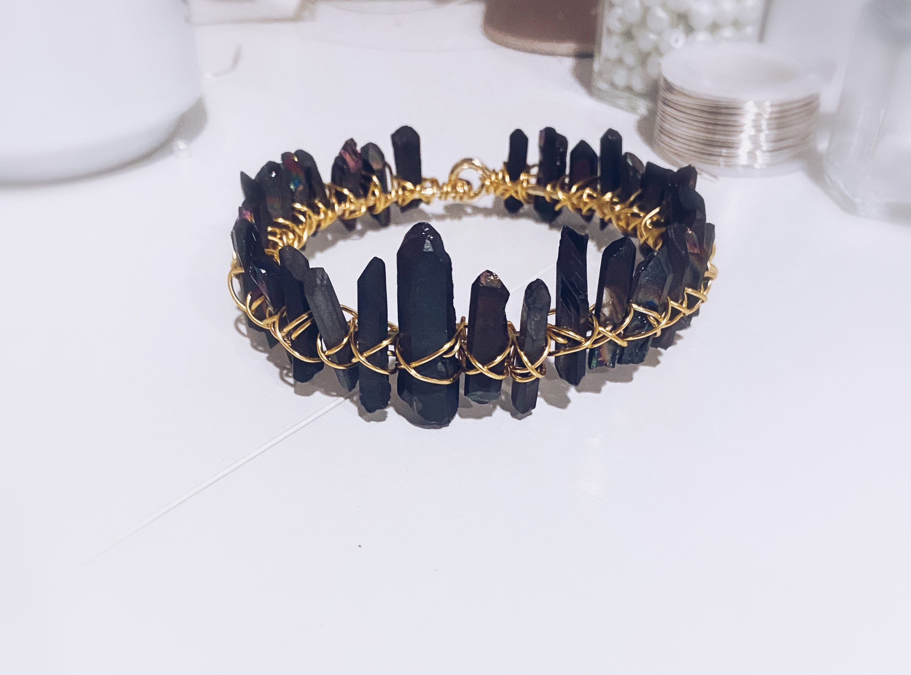 Black Quartz Bangle