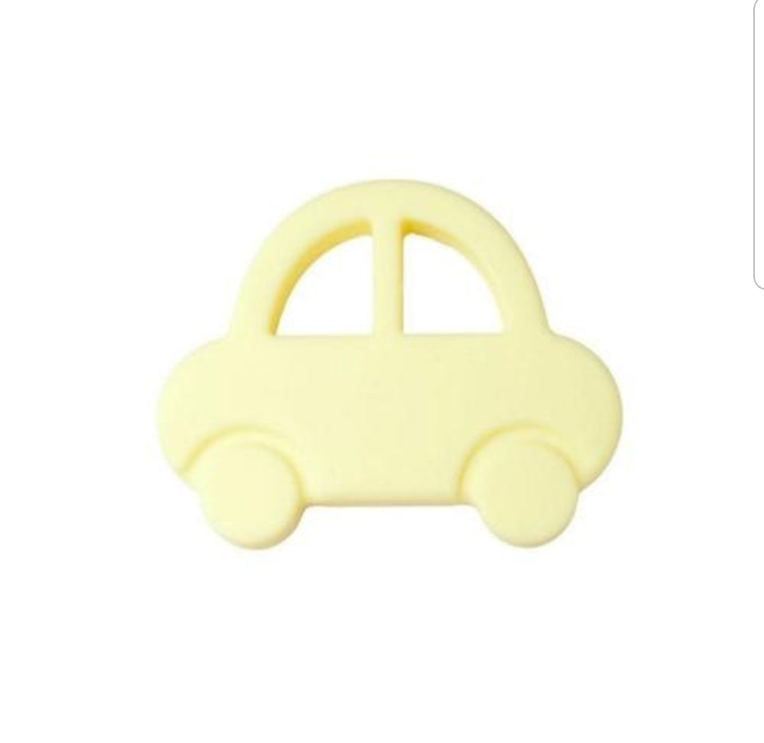 Silicone Toy  - Yellow Silicone  Car - The Beaded Bub