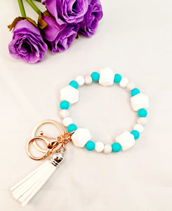 Silicone Beaded Key Chain Bracelet - The Beaded Bub