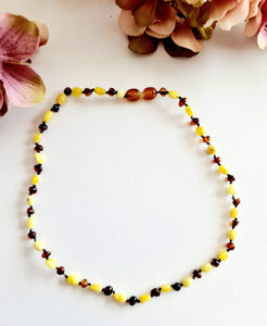 Butterscotch and Cherry Small Amber Beads