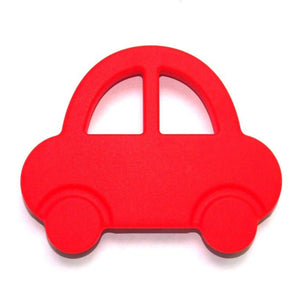 Silicone Toy  - Red Silicone Car - The Beaded Bub