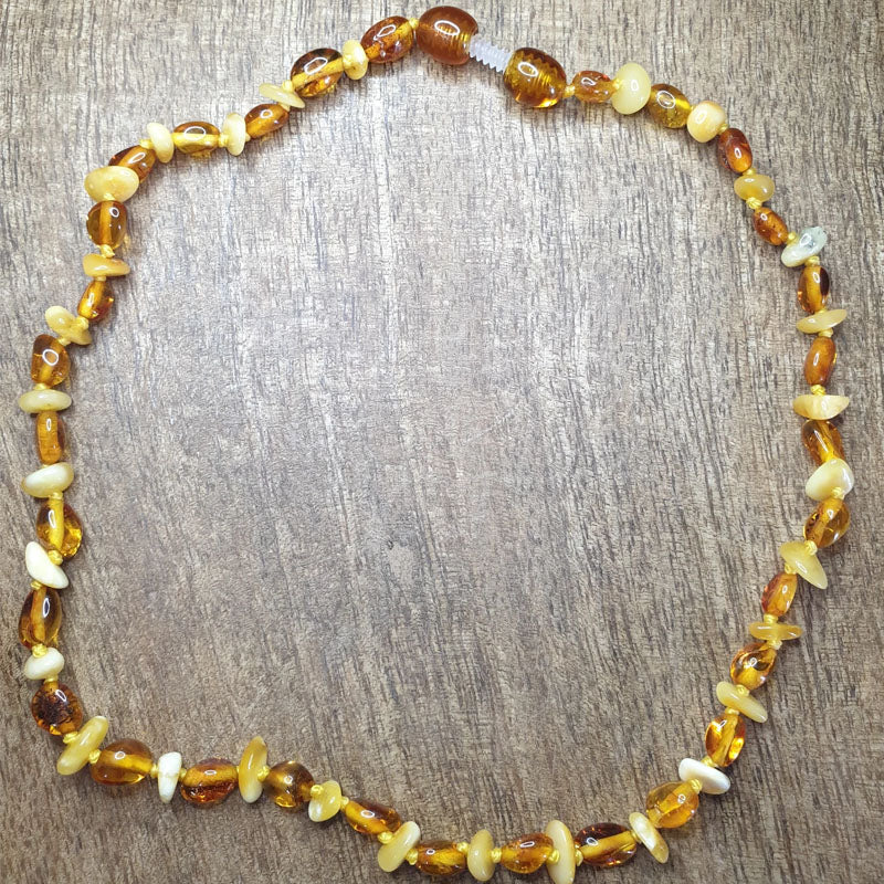 Butterscotch amber with light cognac Necklace - The Beaded Bub