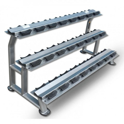 MYO Strength 12 Pair 3 Tier Dumbbell Rack - HomeGymSupply.co.uk