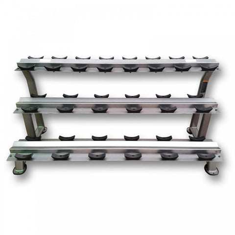 MYO Strength 10 Pair 3 Tier Dumbbell Rack - HomeGymSupply.co.uk