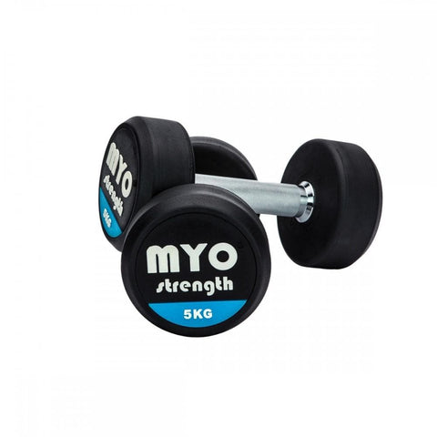 MYO Strength Rubber Dumbbells 2.5kg - 80kg - HomeGymSupply.co.uk