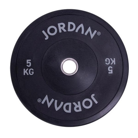 Jordan HG Black Rubber Bumper Plates (5kg - 25kg) - HomeGymSupply.co.uk