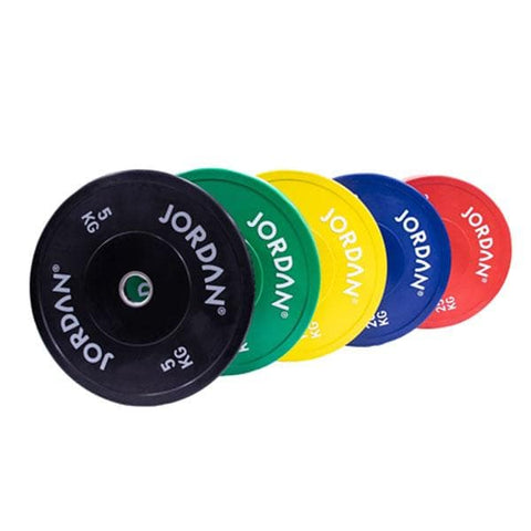 Jordan HG Coloured Rubber Bumper Plates (5kg - 25kg) - HomeGymSupply.co.uk