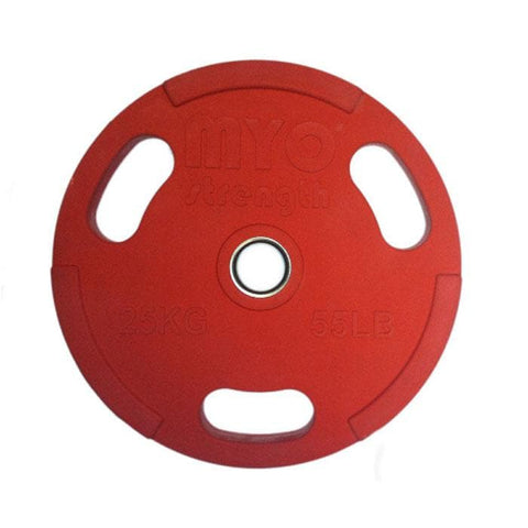 MYO Olympic Rubber Coated Coloured Discs - HomeGymSupply.co.uk