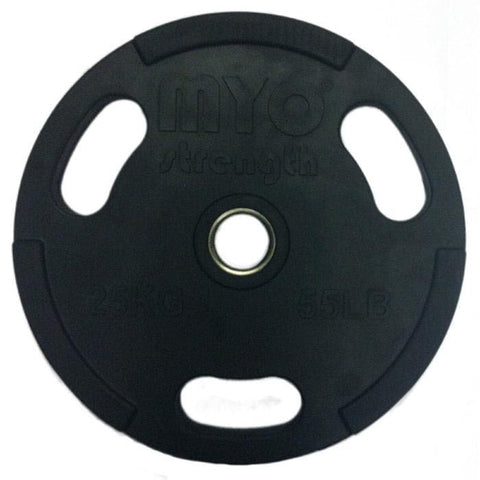 MYO Strength Rubber Coated Olympic Disc - HomeGymSupply.co.uk