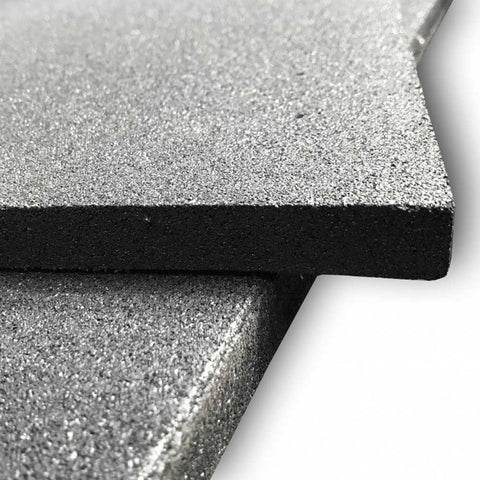 MYO Rubber Black Tile 1000mm x 1000mm 20mm Thick - HomeGymSupply.co.uk