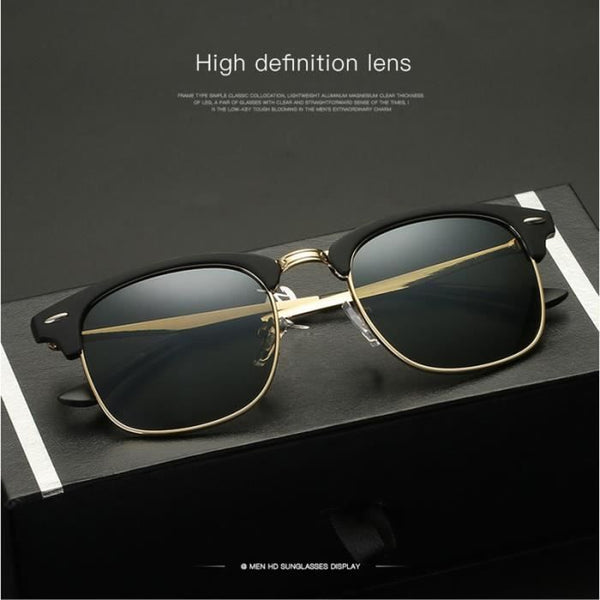 LUNETTE DE SOLEIL HOMME DE LUXE COLLECTION 2019 UV400 - CLUBMASTER
